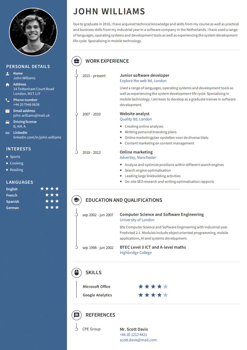 create a professional cv - quick  u0026 easy with our cv builder